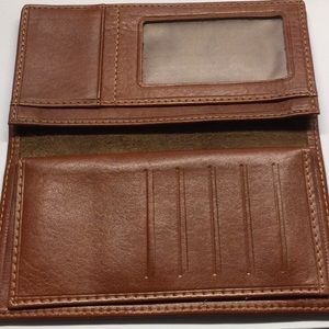 Brown leather wallet .. Free with purse purchase